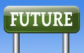 Постер, плакат: future technology unfolding forecast for next generation prediction of science fiction