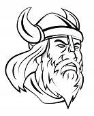 picture of viking  - Viking Head Vector Art and Illustration Editable - JPG