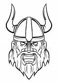 stock photo of viking  - Viking Editable Vector Art and Illustration Design - JPG