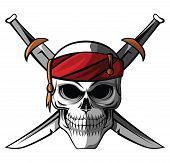 picture of skull crossbones flag  - Skull Pirate Editable  - JPG