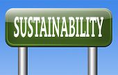 foto of sustainable development  - sustainability sign - JPG