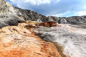 stock photo of mammoth  - Mineral formations at the Mammoth hot springs area in Yellowstone national Park - JPG