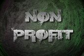 stock photo of non-profit  - Non Profit Concept text on background business idea - JPG