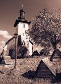 stock photo of templar  - Templar church at village Martincek  - JPG