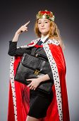 pic of superwoman  - Woman queen businesswoman in funny concept - JPG