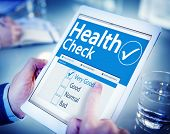 picture of medical condition  - Digital Health Check Healthcare Concept - JPG