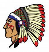 image of apache  - Apache Head Editable  - JPG