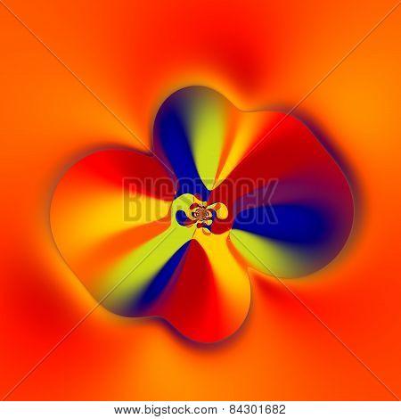 Strange flower shape. Abstract colorful fractal. Creative fantasy artwork. Floral art. Image.