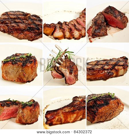 Grilled Meat Collage