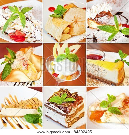 Various Desserts Collage