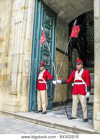 Guard At The Legislative Palace