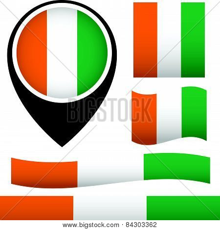 West Africa Ivory Coast Flags