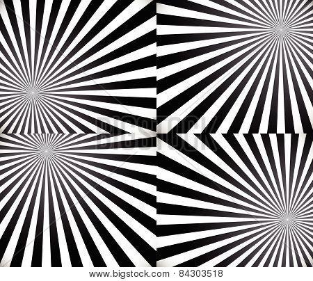 Monochrome Rays, Starburst Background Set