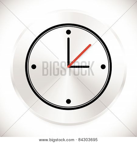 Wall Clock Icon. Instrument Of Time. Clock Sign, Symbol