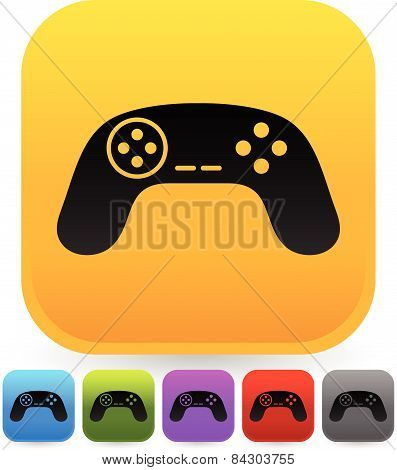 Illustration Of Game Controllers, Remotes. Pc, Console Gaming Concepts.
