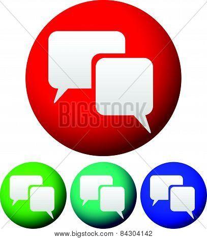 Speech, Talk Bubbles On Circles