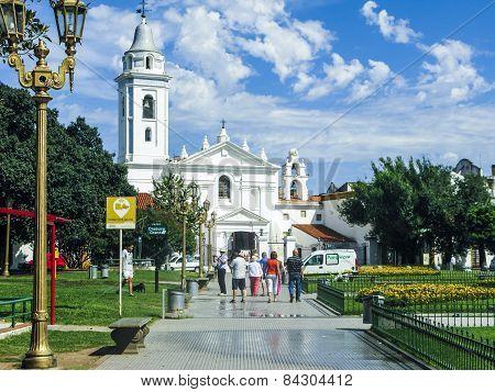 People Visit Iglesias Del Pinar
