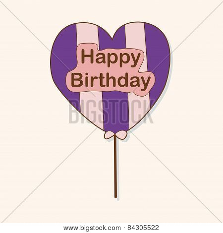 Birthday Ballon Theme Elements Vector,eps