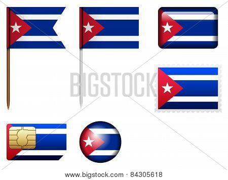 Cuba Flag Set