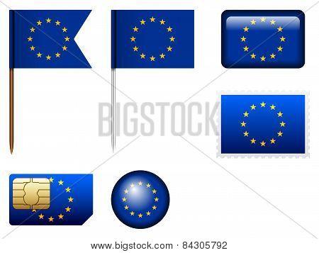 European Union Flag Set