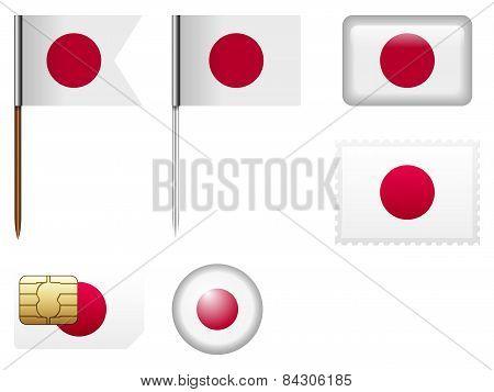Japan Flag Set