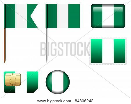 Nigeria Flag Set