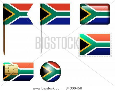 South Africa Flag Set