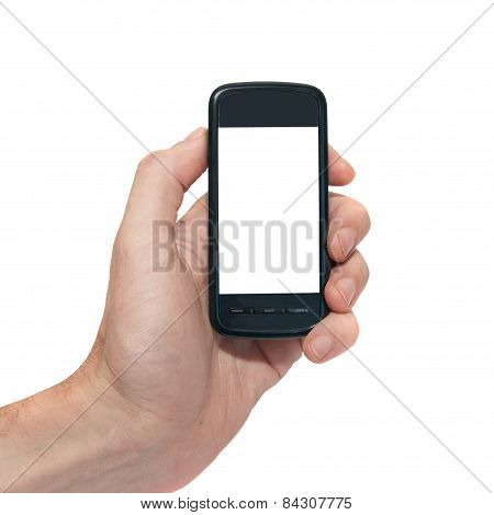 Mobile Phone With Empty Screen
