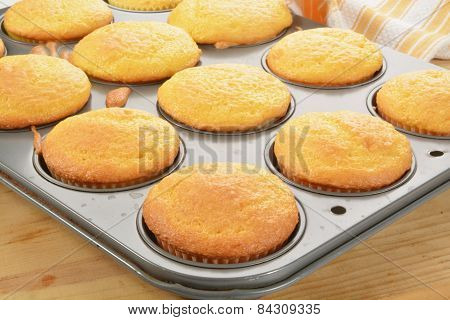 Cupcakes In The Baking Tin