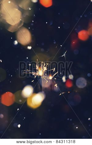 Colorful Christmas Sparkler