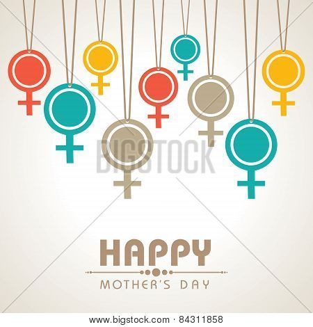 Mothers day greeting design