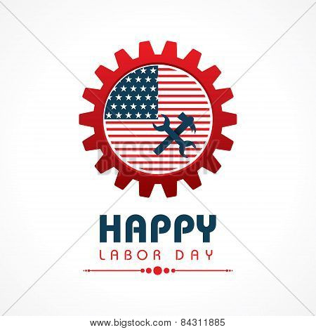 Creative happy labor day