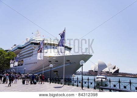 Cruiser In Sidney Port