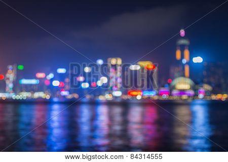 Blur lighten Cityscape along river