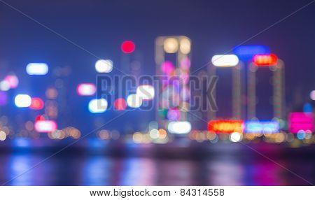 Blured lights of Hongkong Cityscape