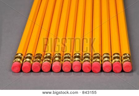 Pencils Alined Together