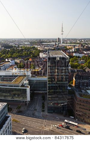 Heinrich Hertz Tv Tower In Hamburg, Germany