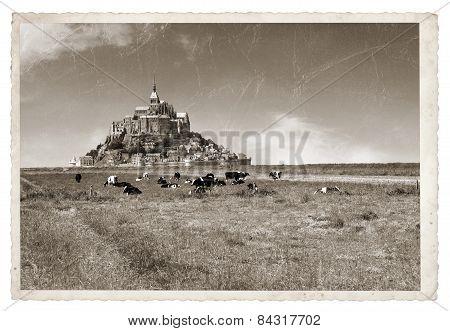 Mont Saint Michel Vintage Photo
