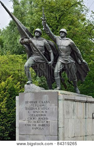 Sculpture Victory. Monument To 1200 Guardsmen, Kaliningrad, Russia