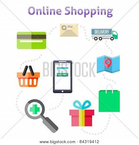 Symbols Of Online Shop