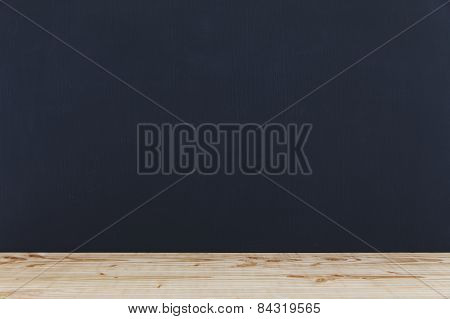Blackboard With Wooden Tray