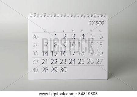 2015 Year Calendar. September