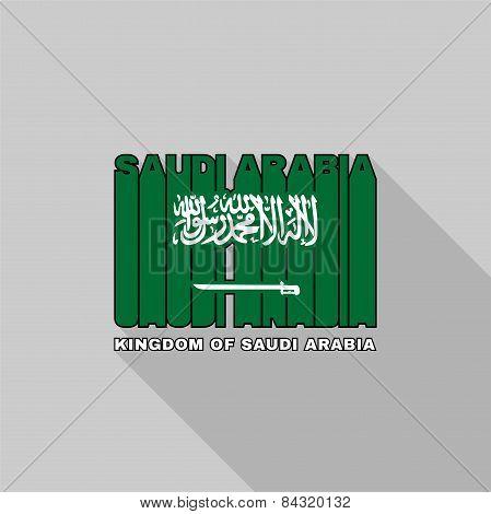 Saudi Arabia Flag Typography, T-shirt Graphics