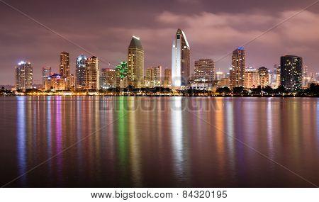 Late Night Coronado San Diego Bay Downtown City Skyline
