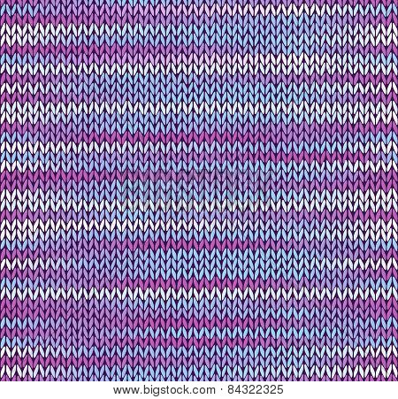 Style Seamless Knitted Pattern. Blue Pink White Color Illustration From My Large Collection Of Sampl