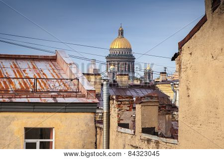 Saint-petersburg, Russia. Cityscape Of Old City