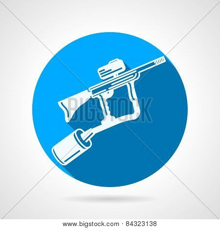 Paintball rifle round vector icon