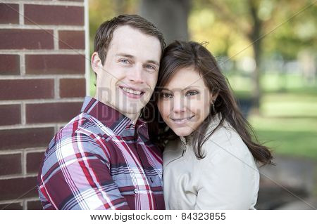attractive couple looking
