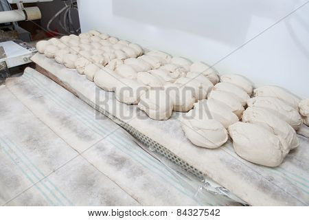 Bread Dought Pieces Before Fermentation