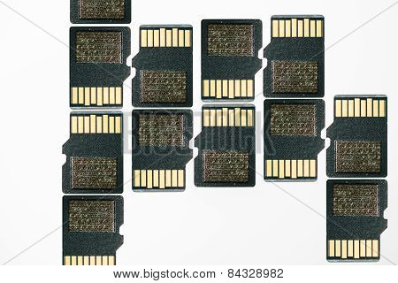 Sd Card On White - Secure Digital Data